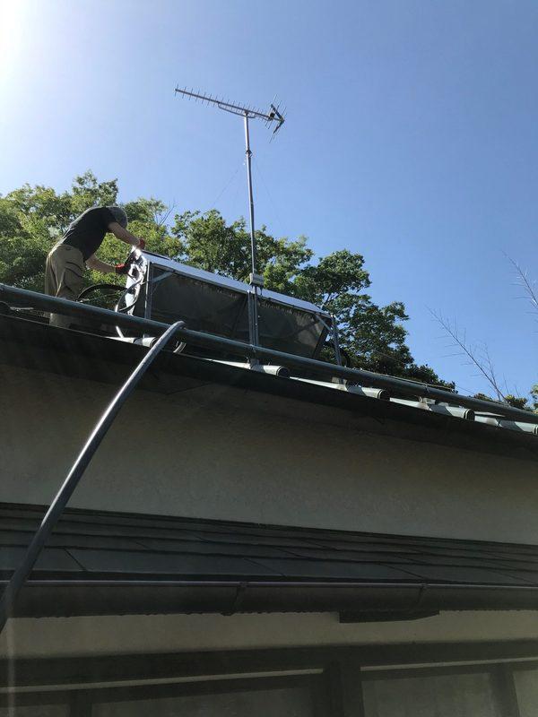 太陽熱温水器修理